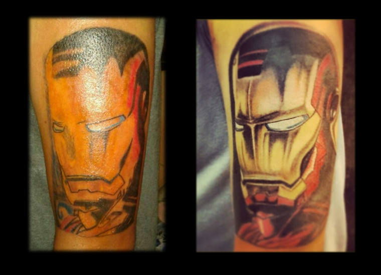 Reworked on an Iron Man Tattoo the client had got done earlier from another artist.