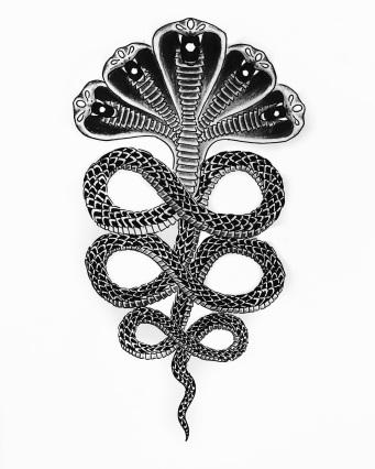 Blackwork Tattoo Design- Naag Dev