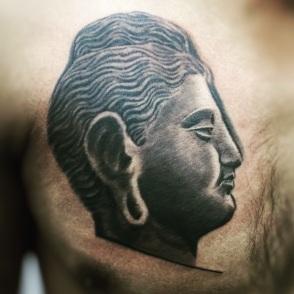 Buddha - Black & Grey Tattoo